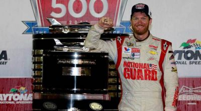 Dale Earnhardt Jr wins the Daytona 500